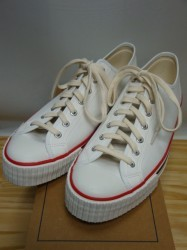 ウェアハウス Lot.3200 LOW CUT CANVAS SNEAKER Col.OFF.W