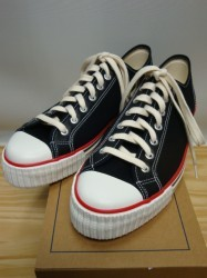 ウェアハウス Lot.3200 LOW CUT CANVAS SNEAKER Col.BLACK