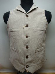 リアルマッコイズ DOUBLE DIAMOND LINEN LAPEL VEST Col.LINEN