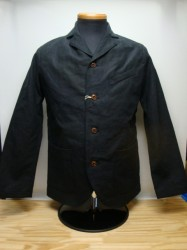 リアルマッコイズ DOUBLE DIAMOND LINEN SACK COAT Col.BLACK