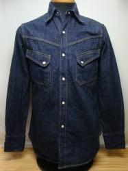 ウエアハウス Lot 3001 LONG HORN  DENIM WESTERN SHIRTS