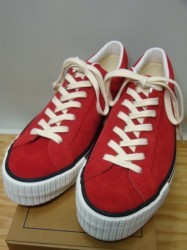 ウェアハウス Lot 3400 SUEDE SNEAKER Col.RED