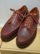 スクーブ WHOLE MOCCASIN DERBY Col.RED BROWN