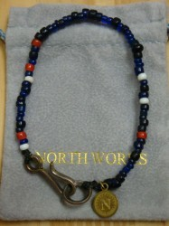 ノースワークス Nickel 10¢ Hook Beads Bracelet Col.NAVY