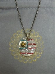 ノースワークス OLD COIN AMERICAN FLAG PENDANT 5¢