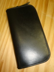 レインボーカントリー U.K Saddle Leather Wallet Col.BLACK