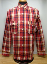 ウェアハウス Lot 3105 FLANNEL SHIRTS A柄 Col.RED