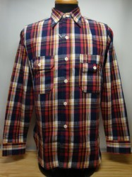 ウェアハウス Lot 3105 FLANNEL SHIRTS A柄 Col.NAVY