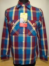 ウェアハウス Lot 3095 FLANNEL SHIRTS D柄 (ONE WASH PUR×BL