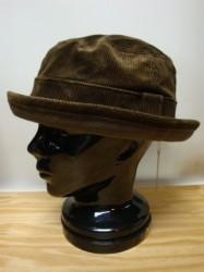 "コリンボ CROSSBOW HAT ""CORD"" Col.BROWN"