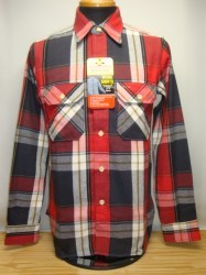 ウェアハウス Lot 3104 FLANNEL SHIRTS (B) Col.RED
