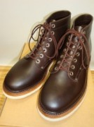 "スクーブ ""IRON SWAGED BOOTS"" Col.DARK BROWN"