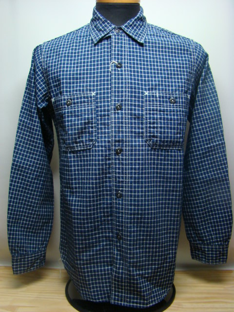 "フリーホイーラーズ BAKEHEAD SHIRTS ""INDIGO SMALL CHECK"""
