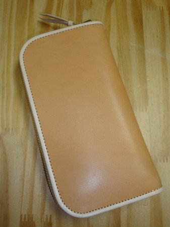 レインボーカントリー Saddle Leather Wallet Col.BEIGE