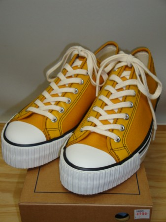 ウェアハウス Lot.3200 LOW CUT CANVAS SNEAKER Col.MUSTARD