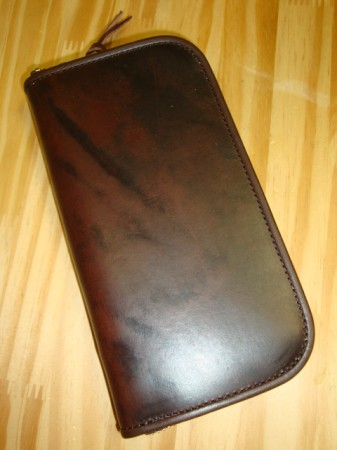 レインボーカントリー U.K Saddle Leather Wallet Col.RED BROWN