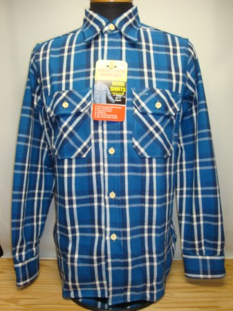 ウェアハウス Lot 3104 FLANNEL SHIRTS (C) Col.BLUE