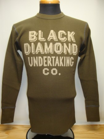"フリーホイーラーズ L/Sサーマル ""BLACK DIAMOND UNDERTAKING Co"""