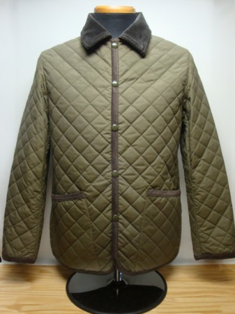 コリンボ UTICA BARN QUILTED JACKET Col.OLIVE GREEN